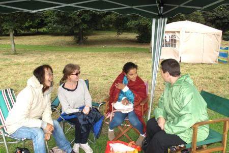 Chatting at the Picnic